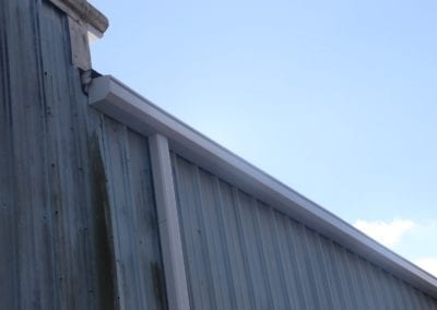 white gutters - commercial application